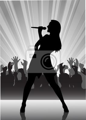 chanteur au micro