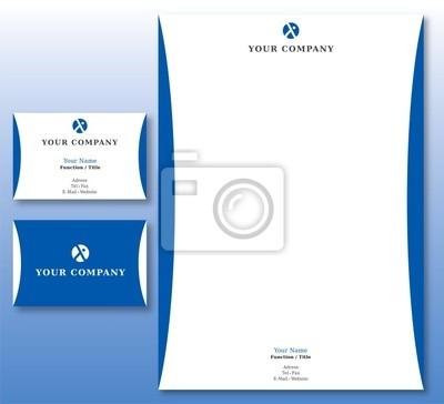 Sticker Charte Graphique Assurances Et Affaires Papier Carte Visite