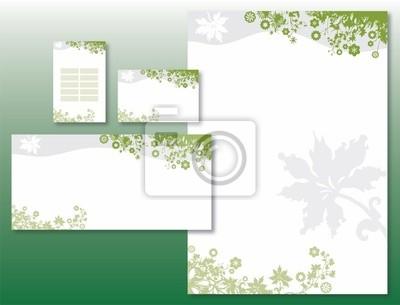 Sticker Charte Graphique De Fleurs Bordure