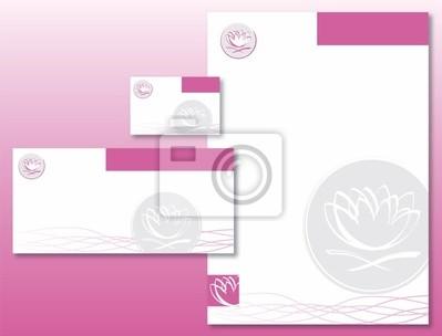 Sticker Charte Graphique Fleur De Lotus Rose