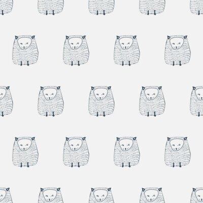 Sticker Chats modèle sans soudure. Animal de fond. Illustration vectorielle