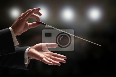 Sticker Chef d'orchestre dirigeant un orchestre