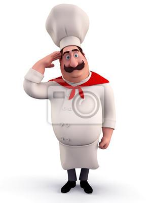 Chef faisant le salut