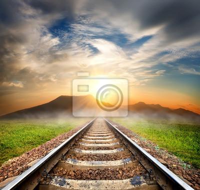 Chemin de fer dans les montagnes