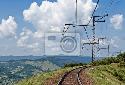 Chemin de fer dans les montagnes des Carpates, Ukraine