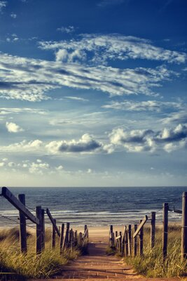 Sticker Chemin de la plage par la mer