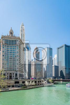 Chicago et la ville de Chicago skyline, États-Unis
