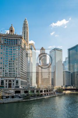Chicago et le centre-ville de Chicago skyline, États-Unis