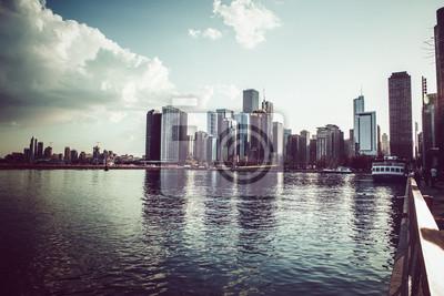 Chicago Skyline et le lac Michigan