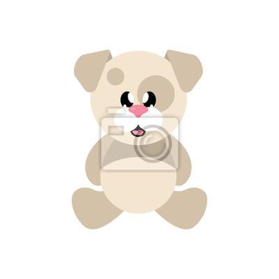 Chien Mignon De Dessin Anime Assis Stickers Pc Portable