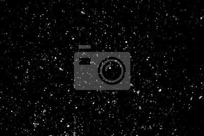 Sticker Christmas background, white snow on black background for edit photo.