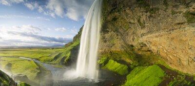 Sticker Chute d'eau tombant du ciel en Islande