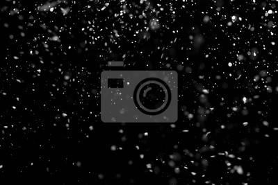 Sticker Chute de neige sur le fond noir.