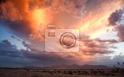 Sticker ciel dramatique avec nuages