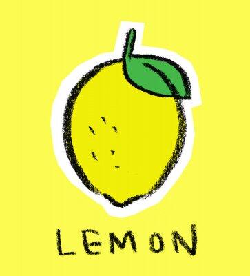 Citron, jaune, fond
