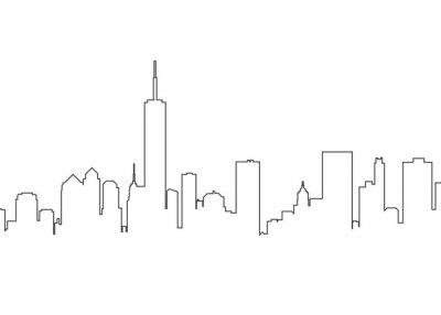 Sticker City landscape line