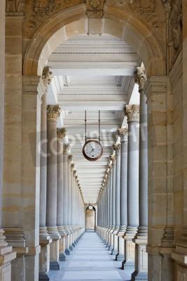 Sticker Classical colonnade in Karlovy Vary, Czech Republic