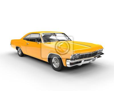Sticker Classique, muscle, jaune, voiture, studio, lumière, coup