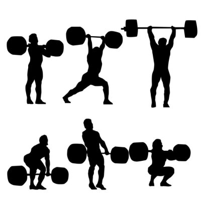 Sticker Clean et Jerk Silhouette du weightlifter