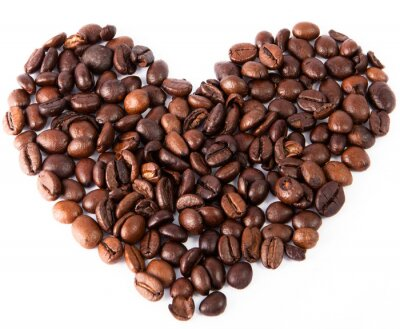 Sticker Close-up, coeur, naturel, brun, frit, café, été