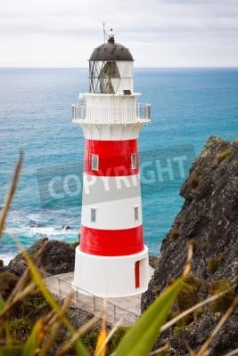 Sticker Close-up d'une belle phare du cap Palliser, Île du Nord, Nouvelle-Zélande