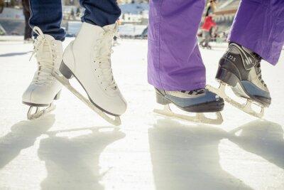 Sticker Closeup, patinage, patin, patin, dehors, patinoire