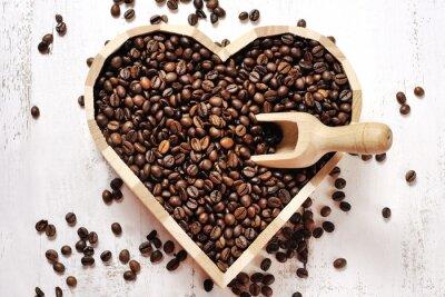 Sticker Coeur, café, haricots