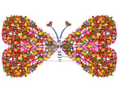 coeur, papillon, symbole de l'amour, carte postale