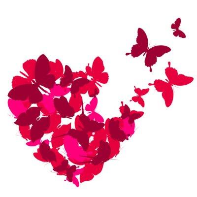 Sticker coeurs d'amour,