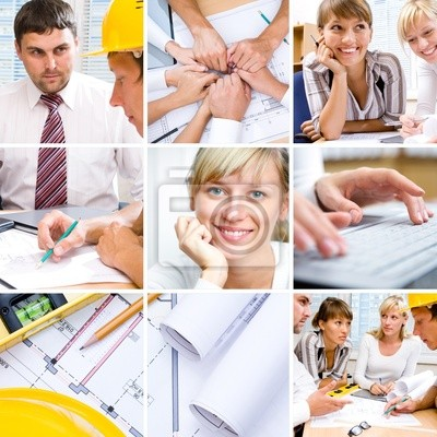 collage d'affaires