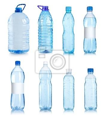 Collage de bouteilles d'eau