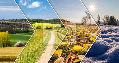 Sticker Collage de quatre saisons de bannières de flèche