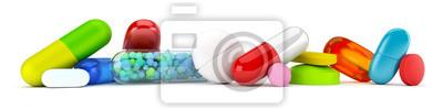 Sticker Collection de pilules colorées