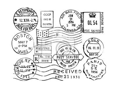 Sticker collection de timbres postaux