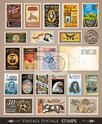 Sticker Collection de timbres-poste de collection