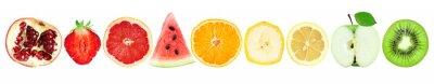 Sticker Collection de tranches de fruits isolés sur blanc