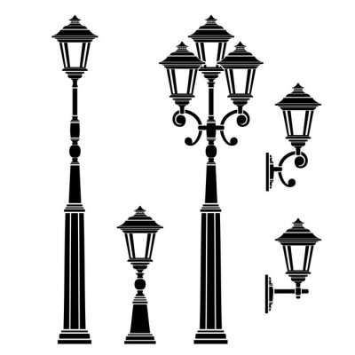 Sticker Collection lampadaires