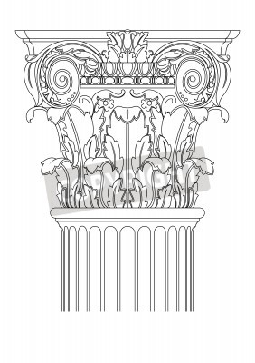 Sticker colonne clasic