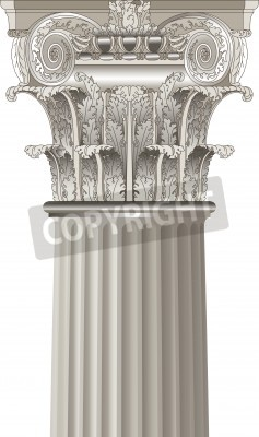 Sticker colonne classique
