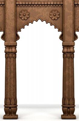 Sticker Colonne indienne traditionnelle Arc