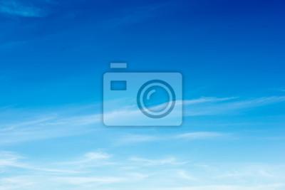 Sticker Coloré beau ciel bleu avec fond de formation de nuage