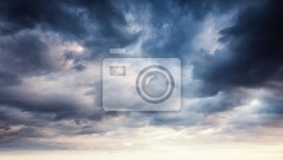 Sticker Coloré, dramatique, ciel, sombre, nuages