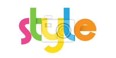 Sticker Coloré vecteur Lettres Icône STYLE