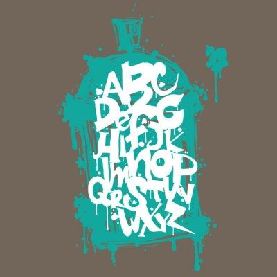 Sticker Colorful graffiti lettres police de l'alphabet. Conception de graffiti hip-hop
