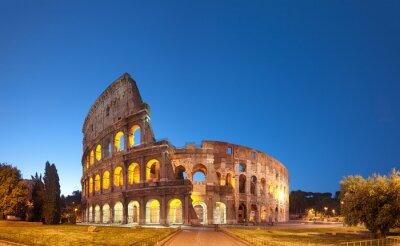 Sticker Colosseum at night .Rome - Italie