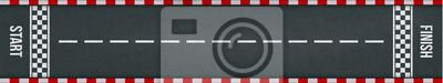 Sticker Commencer la piste d'arrivée avec marquage vectoriel