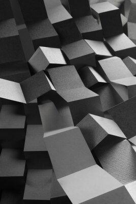 Sticker Composition abstraite des bandes de papier, fond géométrique
