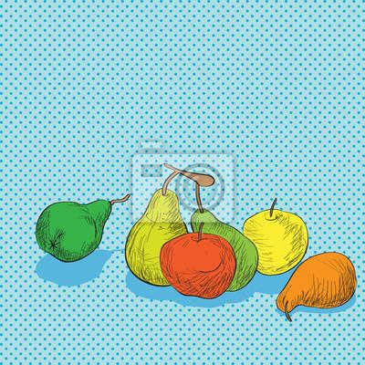 Sticker Composition de fruits