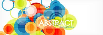 Sticker Composition géométrique colorée abstraite - fond de cercle multicolore