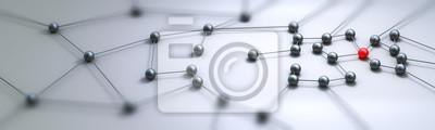 Sticker Concept de connexion panorama rendu 3d
